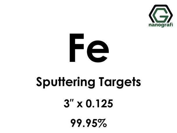 Iron (Fe) Sputtering Targets, Size:3'' ,Thickness:0.125'' , Purity: 99.95%