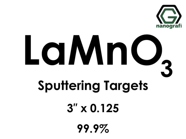 Lanthanum Manganate (LaMnO3) Sputtering Targets, Size:3'' ,Thickness:0.125'' , Purity: 99.9%
