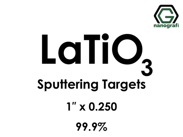 Lanthanum Titanate (LaTiO3) Sputtering Targets, Size:1'' ,Thickness:0.250'' , Purity: 99.9%
