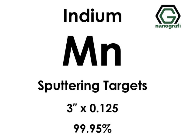Manganese (indium)(Mn) Sputtering Targets, Size:3'' ,Thickness:0.125'' , Purity: 99.95%