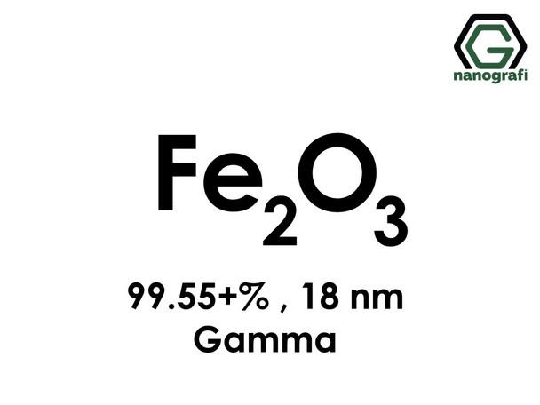 Iron Oxide (Fe2O3) Nanopowder/Nanoparticles, Gamma, High Purity: 99.55+%, Size: 18 nm