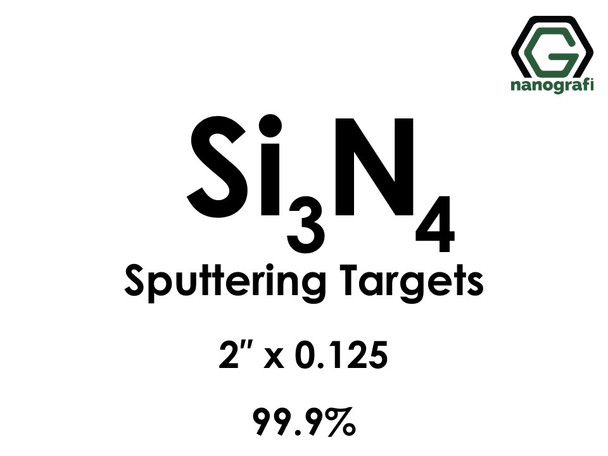 Silicon Nitride(White to gray)(Si3N4) Sputtering Targets, Size:2'' ,Thickness:0.125'' , Purity: 99.9%
