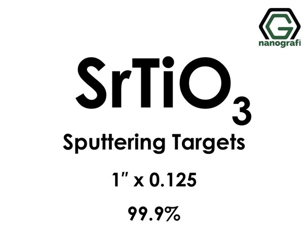Strontium Titanate (SrTiO3) Sputtering Targets, Size:1'' ,Thickness:0.125'' , Purity: 99.9%