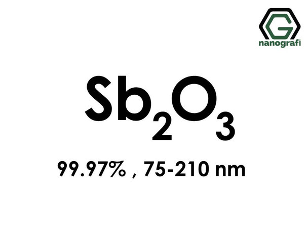 Antimony Oxide (Sb2O3) Nanopowder/Nanoparticles, Purity: 99.97%, Size: 75-210 nm