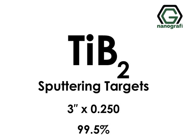 Titanium Boride (TiB2) Sputtering Targets, Purity: 99.5%, Size: 3'', Thickness: 0.250''