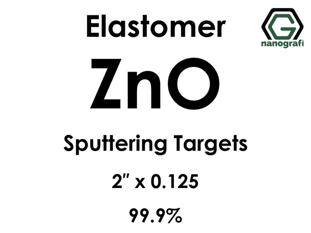 Zinc Oxide (ZnO) Sputtering Targets, elastomer, Purity: 99.9%, Size: 2'', Thickness: 0.125''