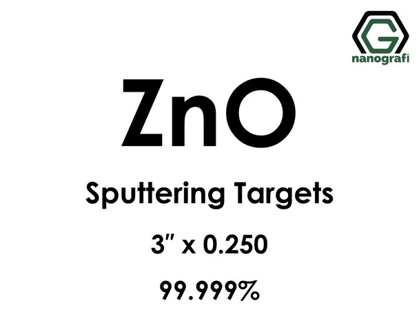 Zinc Oxide (ZnO) Sputtering Targets, Size:3'' ,Thickness:0.250'' , Purity: 99.999%