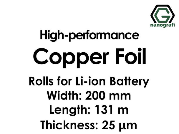 High-performance Copper Foil 25 um Rolls for Lithium Ion Battery