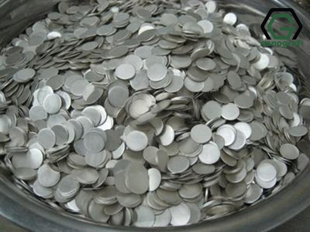 Lithium Chips for Coin Cell Materials, Diameter: 16 mm, Thickness: 0.6 mm, 1500 pieces