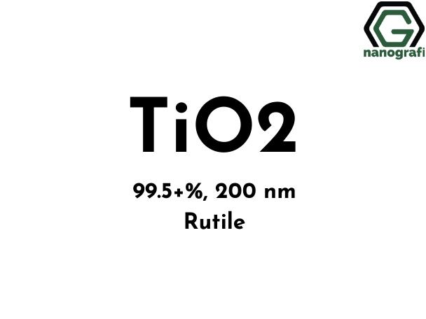 Titanium Dioxide (TiO2) Nanopowder/Nanoparticles, Rutile:99.5+%, Size: 200 nm