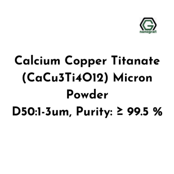 Calcium Copper Titanate (CaCu3Ti4O12) Micron Powder, D50:1-3um, Purity: ≥ 99.5 %