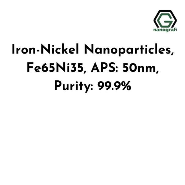 Iron-Nickel Nanoparticles, Fe65Ni35, APS: 50nm, Purity: 99.9%