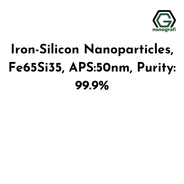 Iron-Silicon Nanoparticles, Fe65Si35, APS:50nm, Purity: 99.9%