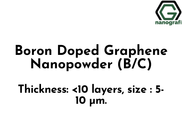 Boron Doped Graphene Nanopowder (B/C) (NG01SC0715)