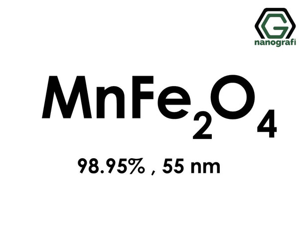 Manganese Iron Oxide (MnFe2O4) Nanopowder/Nanoparticles, Purity: 98.95%, Size: 55 nm- NG04MO0901