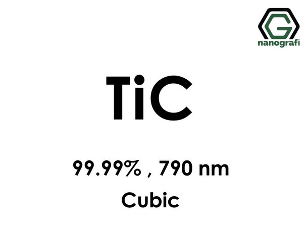Titanium Carbide (TiC) Nanopowder/Nanoparticles, Purity: 99.99%, Size: 790 nm, Cubic- NG04CO1901