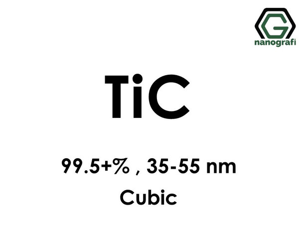 Titanium Carbide (TiC) Nanopowder/Nanoparticles, Purity: 99.5+%, Size: 35-55 nm, Cubic- NG04CO1902