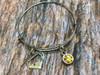 Stainless Steel Pig Heart Bracelet with your choice of Charm
