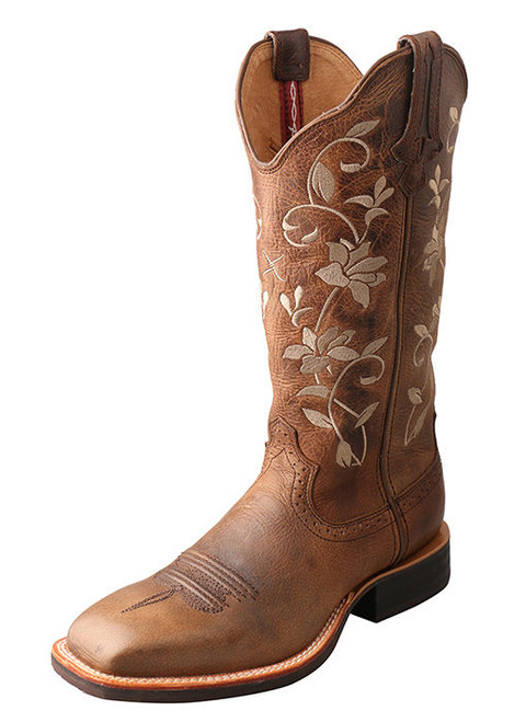 WRS0025 Twisted X Women's Ruff Stock Embroidered Floral Boot