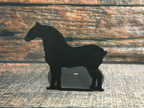 Metal Draft Horse Candle Holder
