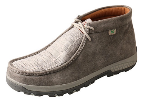 Twisted X Men's Light Grey CellStretch Moc MXC0005