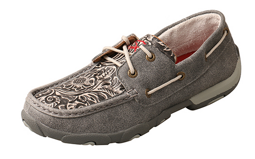 Twisted X Ladies Grey Tooled Moc WDM0130