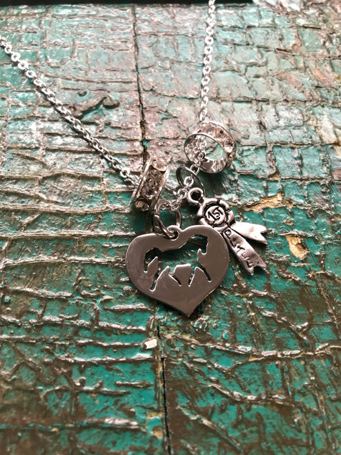 heart heart first place necklace