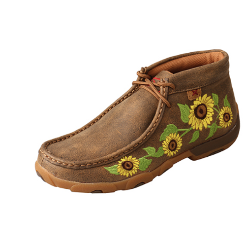 WDM0128 Twisted X Bomber Sunflower Chukka Driving Moc