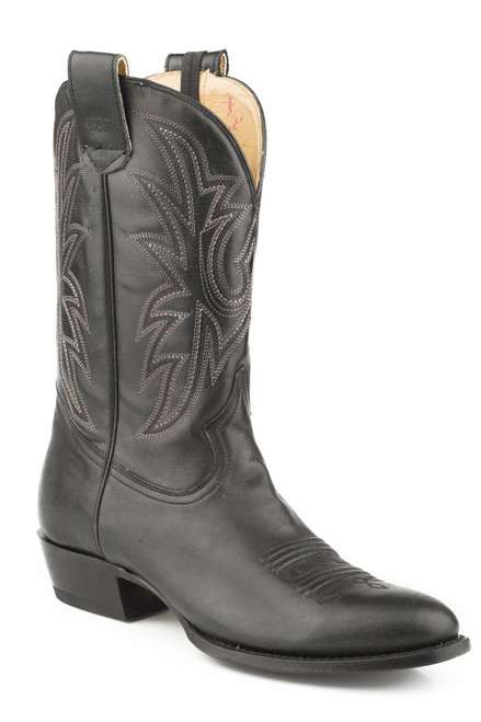 ROPER MENS LEATHER CONCEALED CARRY BOOT BLACK EMBROIDERED UPPER BROWN 09-020-8150-0800 BR