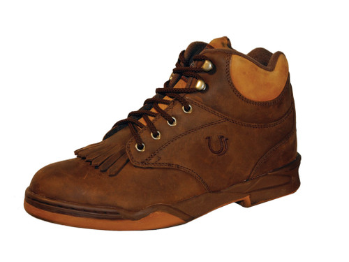 Roper Women's Kiltie Horseshoe Brown and Amber With Steel Shank 09-021-0350-0501 BR