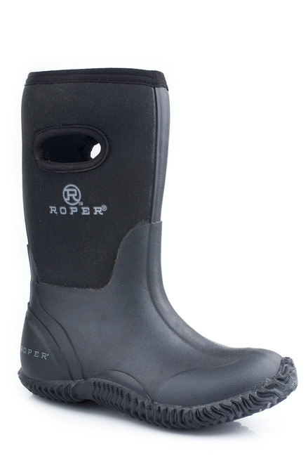 Roper LITTLE KIDS BARN BOOT WITH PULL HOLE 09-018-1136-0482 BR