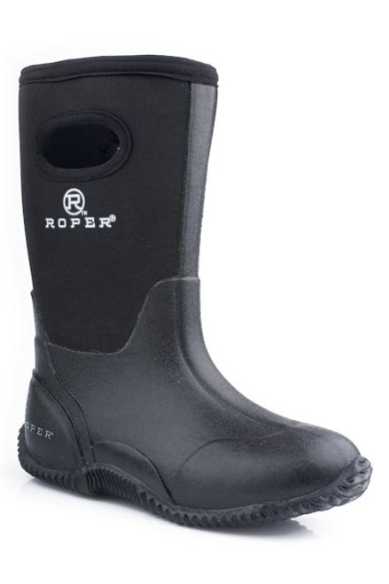 ROPER BIG KIDS BOOT BARN WITH PULL HOLES Black  09-119-1136-0482 BL