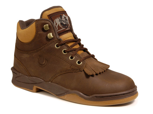 Roper MENS KILTIE HORSESHOE CRAZY HORSE BROWN