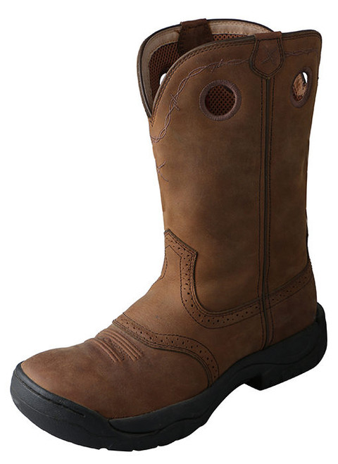 Twisted X Men's All Around Work Boot Distressed Saddle MAB0001