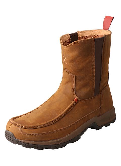 Twisted X Men's 8″ Pull-On Hiker Boot Distressed Saddle MHKB003