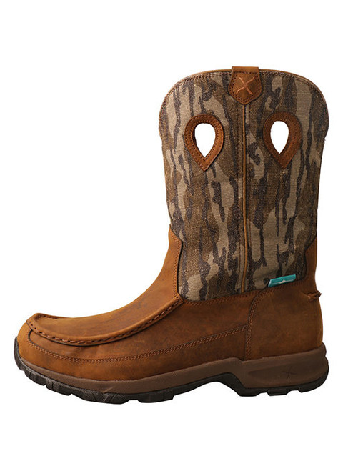 Twisted X Men's Hiker Distressed Saddle And Camo Waterproof Boot MHKBW02