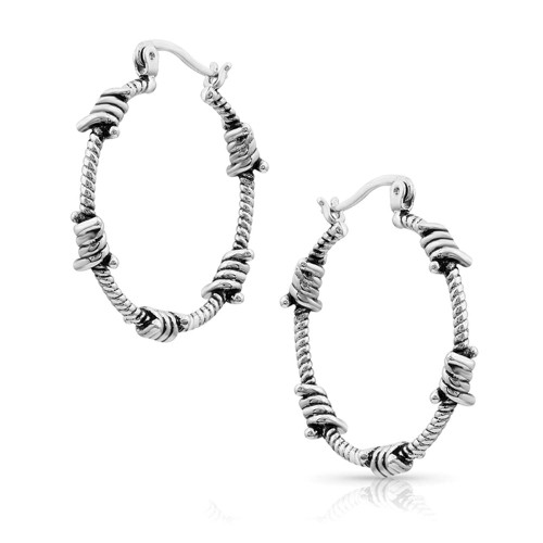 Montana Silversmiths Barbed Wire hoops
