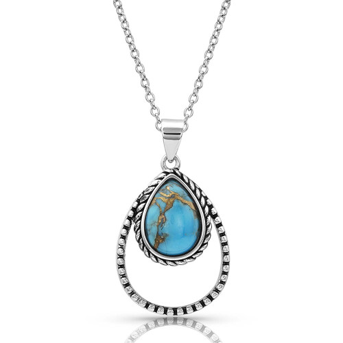 Montana Silversmiths Turquoise double rope necklace