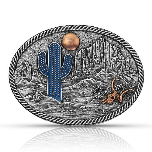 Montana Silversmiths Cactus Moon Belt Buckle