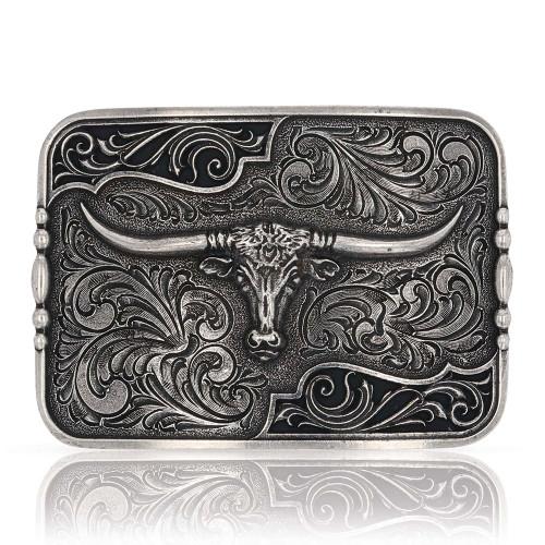 Montana Silversmiths longhorn belt buckle