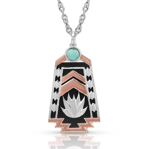 Montana Silversmiths Desert Serenade Agave Turquoise Necklace NC4290RG