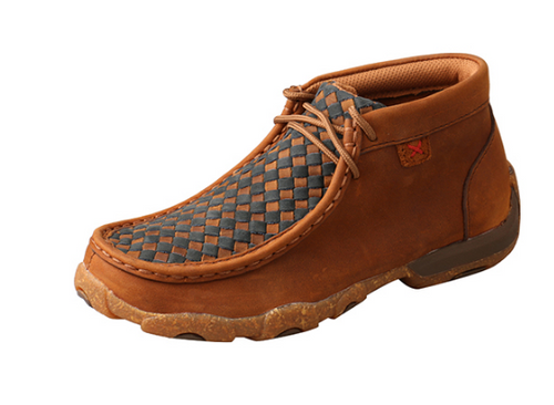 YDM0046 Twisted X Youth Oiled Saddle/Midnight Chukka Driving Moc