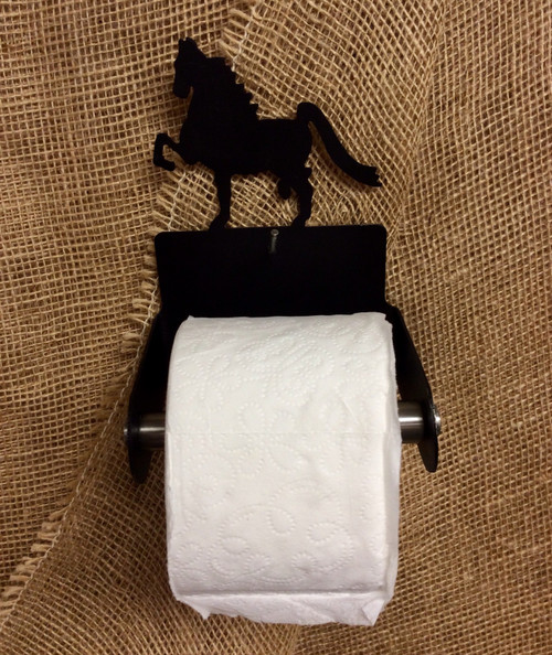 Metal Andalusian Horse Toilet Paper Holder