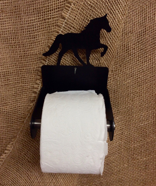 Metal Standard Bred Tennessee Walker Toilet Paper Holder