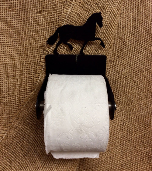 Metal Friesian Horse Toilet Paper Holder