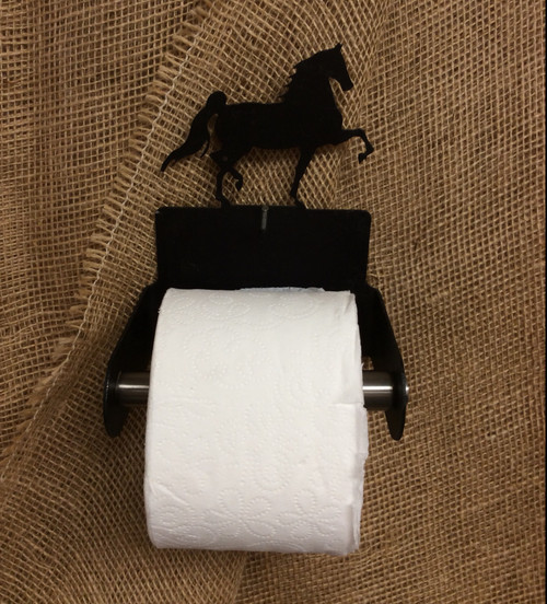 Metal Arabian Horse Toilet Paper Holder