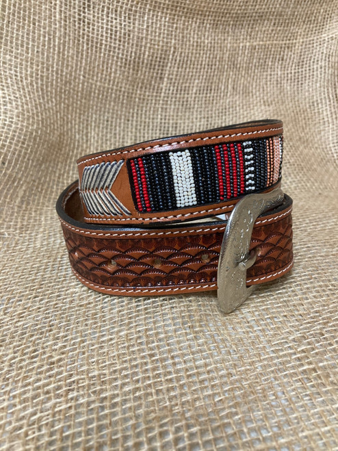 Twisted X Serape Beaded Rawhide Belt X-9037