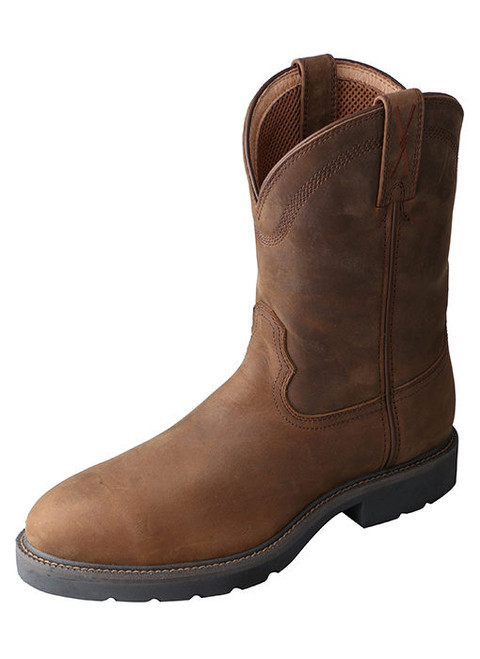 Twisted X Men's Distressed Saddle Pull On Western Work Boot MWP0001