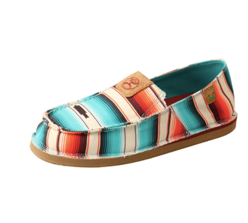 Women's Hooey Sunset Serape Slip-On Loafer by Twisted X WHYCL01