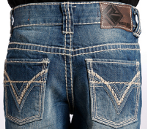 Rock & Roll Cowboy Boy's Double V Embroidery Jeans BB-9576